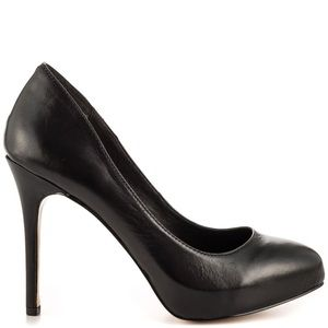 DOLCE VITA MADISON BLACK HEELS IN BLACK NAPPA, 9